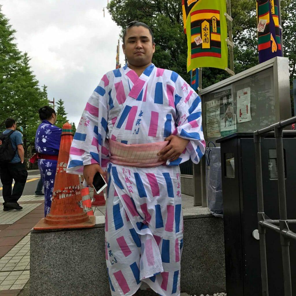 Japan Tokyo Sumo Worstelaar 04