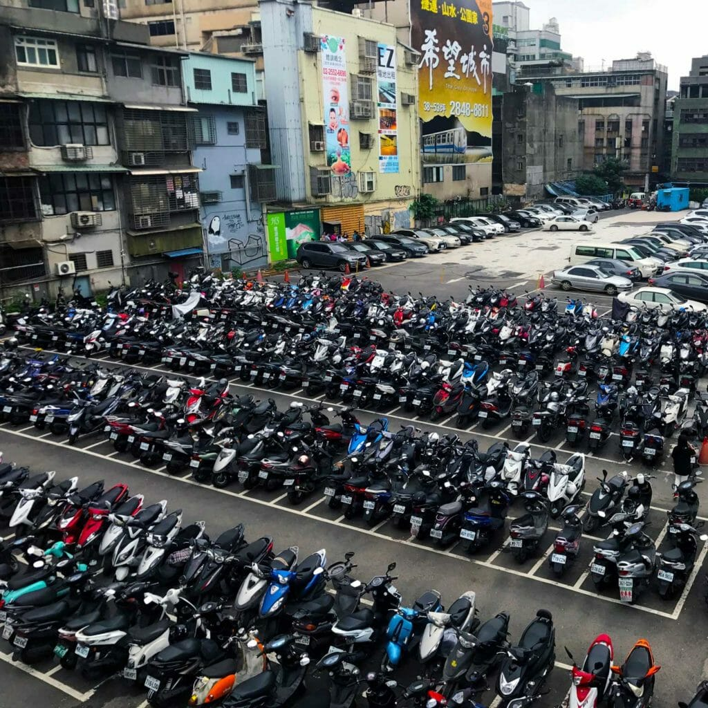 Taiwan Taipei Scooter Parking